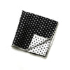 Bradford - Polka Dot Pocket Square (Black/White)