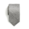 Dean - Hawaiian Solid Linen Neck Tie (Gray)