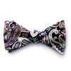 Dominick - Paisley Solid Bow Tie (Black)