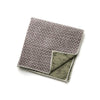 Dunham - Small Floral Mini Dots Pocket Square (Brown/Black)