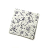 Dunham - Small Floral Mini Dots Pocket Square (Gray/Black)