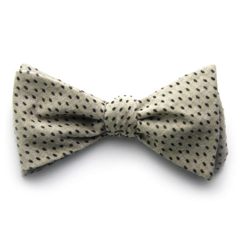 Harris - Hyphens Dots Bow Tie (Taupe)