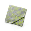 Joseph - Small Crosses Big Crosses Pocket Square (Taupe/Yellow)