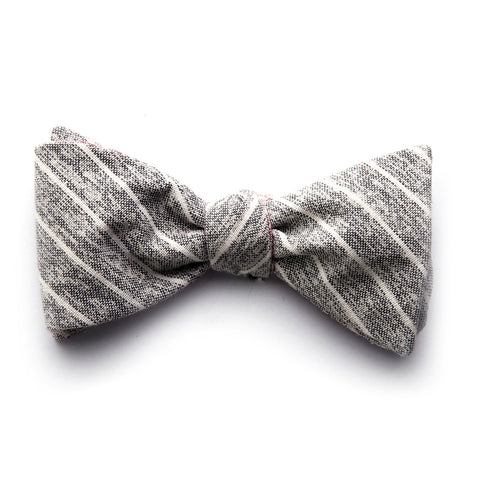 Langham - Small Stripes Bow Tie (Black/Red)