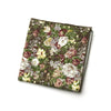 Layne - Floral Gingham Pocket Square (Forest Green)