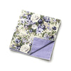 Layne - Floral Gingham Pocket Square (Cream Blue)