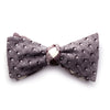 Newton - Gingham Pyramids Bow Tie (Brown)