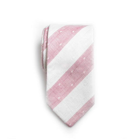 Robin - Large Stripes Neck Tie (Red/Gray)