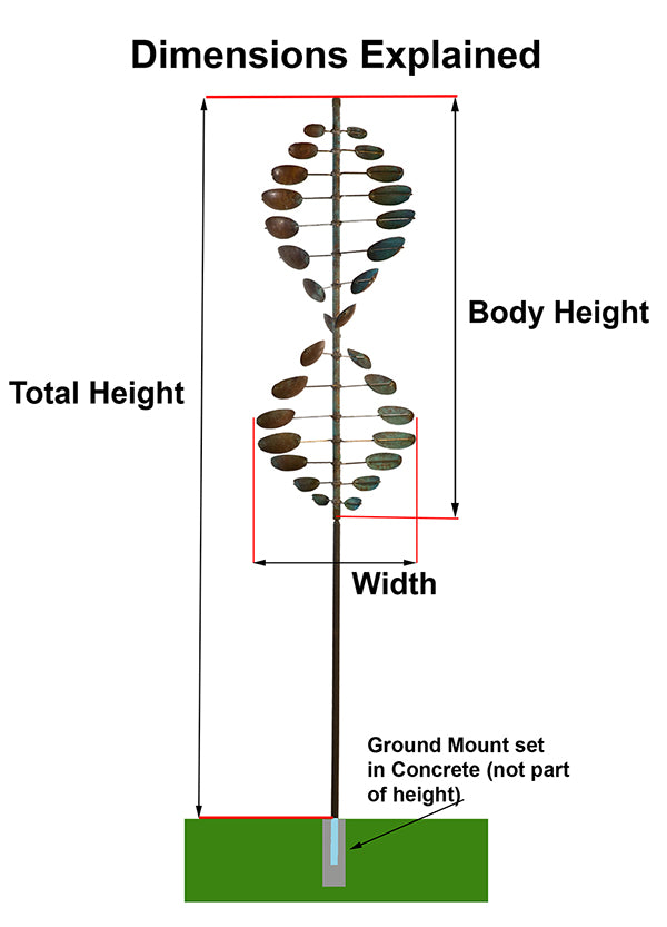 Lyman Whitaker Wind Sculpture Height Diagram