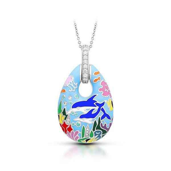 Dolphin Blue Pendant-Belle Etoile-Renee Taylor Gallery