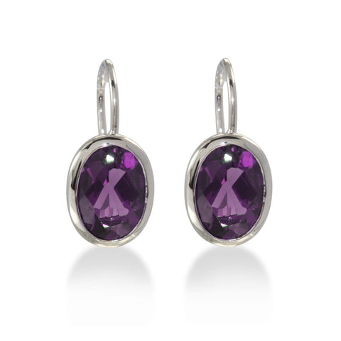 Sterling Silver Amethyst Earrings - 02/82617-AM-Breuning-Renee Taylor Gallery