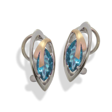 Sterling Silver Blue Topaz Earrings - 02/83711-BT-Breuning-Renee Taylor Gallery