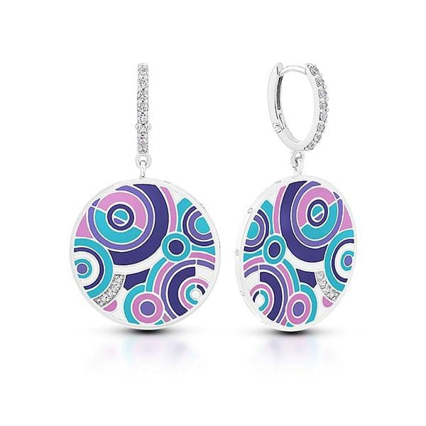 Emanation Purple & Multi Earrings-Belle Etoile-Renee Taylor Gallery