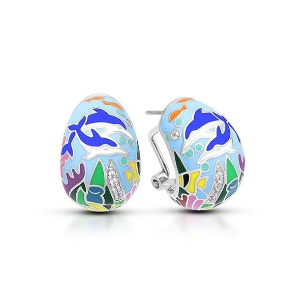Dolphin Blue Earrings-Belle Etoile-Renee Taylor Gallery