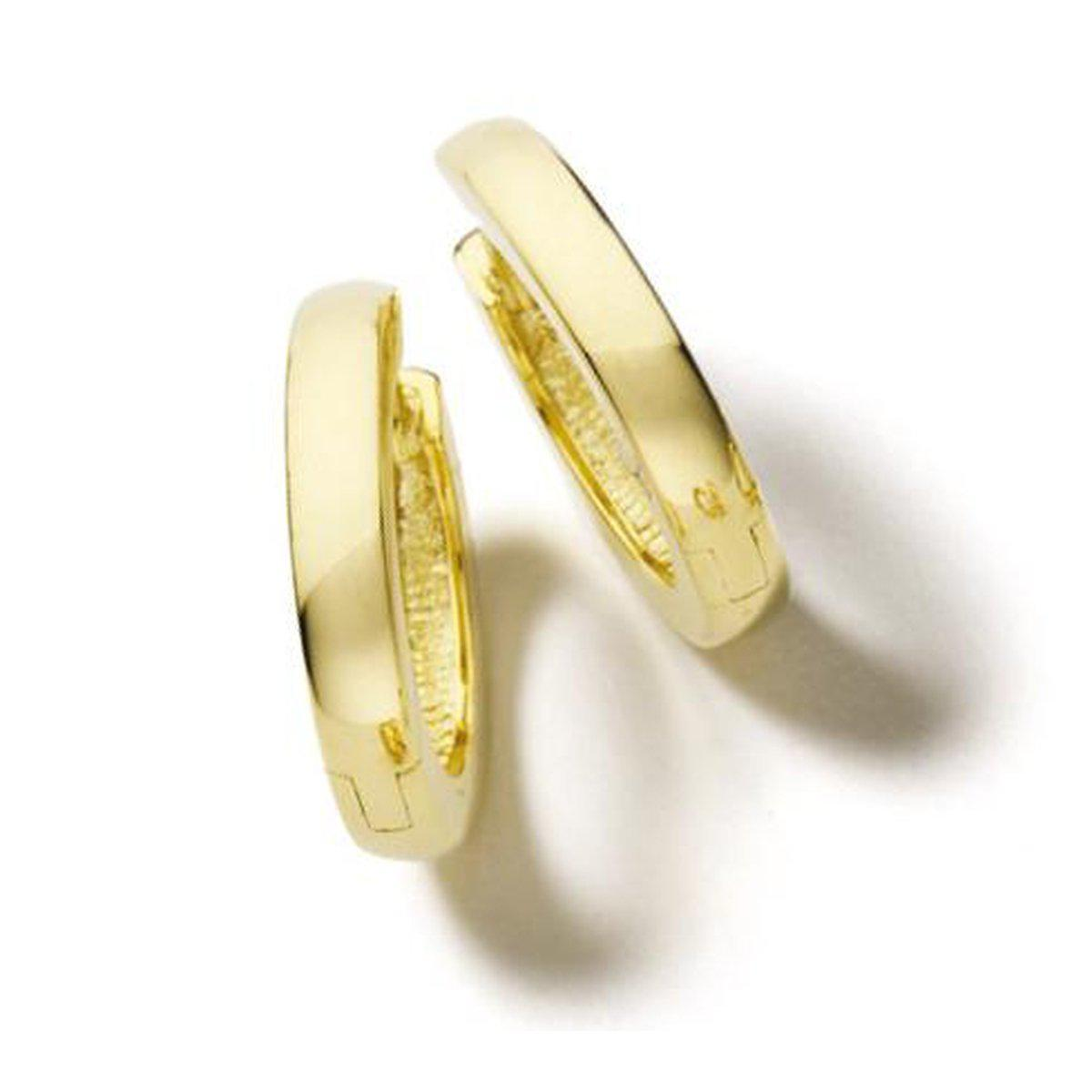 Yellow Gold Plated Sterling Silver Hoop Earrings - 06/03218-YG