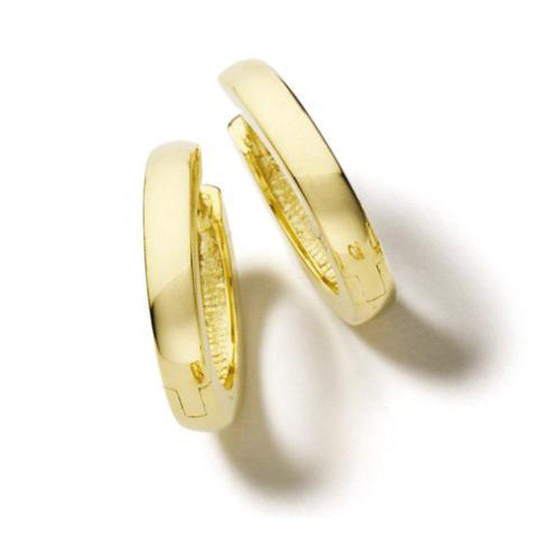 Yellow Gold Plated Sterling Silver Hoop Earrings - 06/03218-YG-Breuning-Renee Taylor Gallery