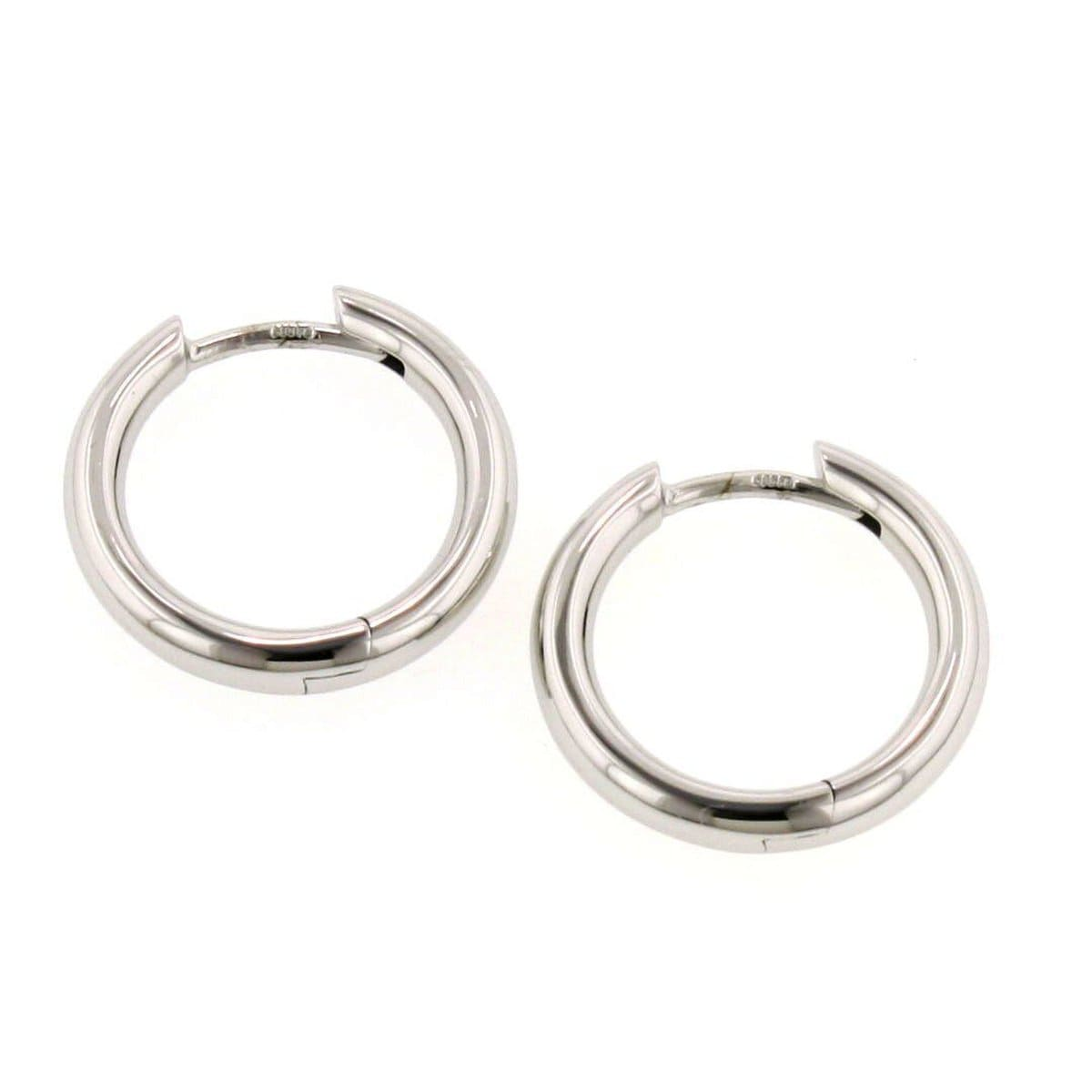 Rhodium Plated Sterling Silver Earrings - 06/07261