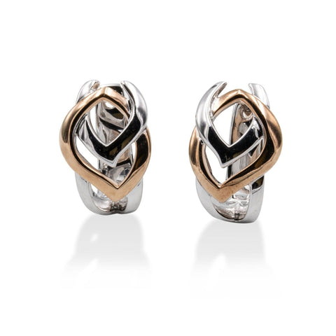 Rose Gold Plated Sterling Silver Earrings - 06/60782-RH/R-Breuning-Renee Taylor Gallery