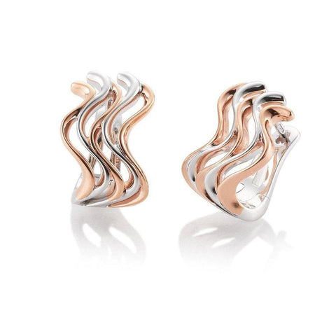Rose Gold Plated Sterling Silver Earrings - 06/60810-RH/R-Breuning-Renee Taylor Gallery
