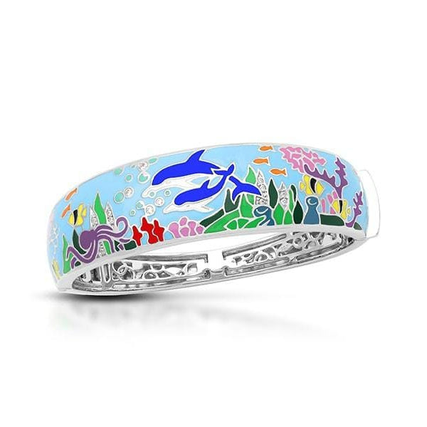Dolphin Blue Bangle-Belle Etoile-Renee Taylor Gallery