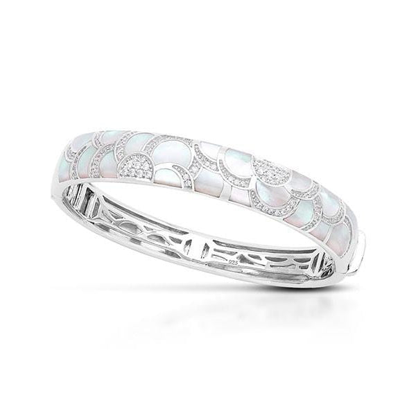 Adina White Mother-of-Pearl Bangle-Belle Etoile-Renee Taylor Gallery