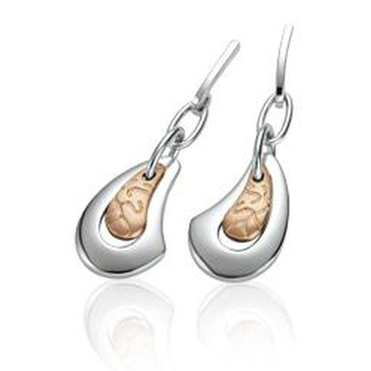 Rose Gold Plated Sterling Silver Earrings - 14/02549