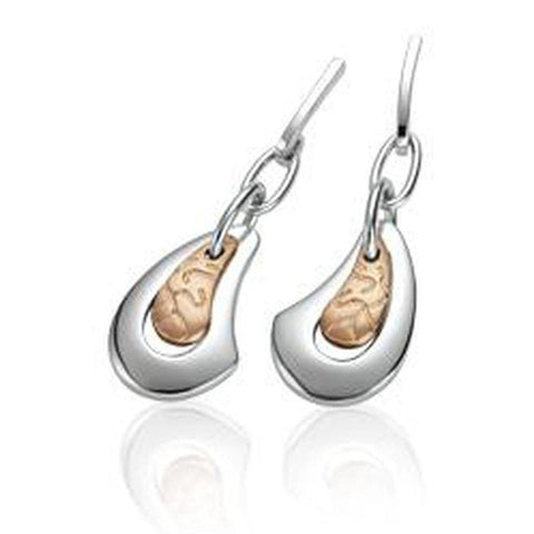 Rose Gold Plated Sterling Silver Earrings - 14/02549-Breuning-Renee Taylor Gallery