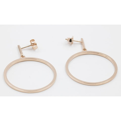 Rose Gold Plated Sterling Silver Hoop Earrings - 14/08226-R-Breuning-Renee Taylor Gallery