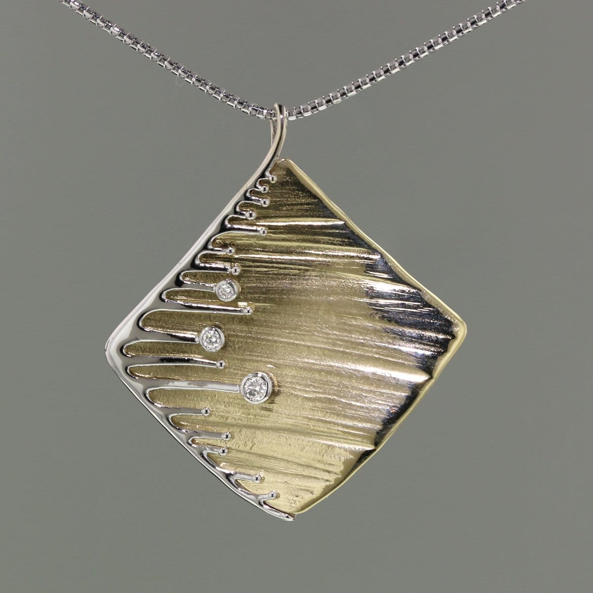 14k Gold & Diamond Pendant - 1021D-Y-Leon Israel Designs-Renee Taylor Gallery
