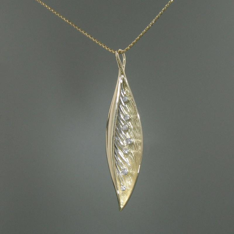 14k Yellow Gold & Diamond Pendant - 379TD-YW-Leon Israel Designs-Renee Taylor Gallery
