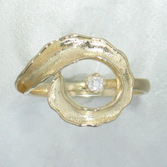 14k Yellow Gold & Diamond Ring - 130D-Y-Leon Israel Designs-Renee Taylor Gallery