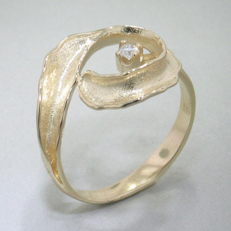 14k Yellow Gold & Diamond Ring - 130D-Y