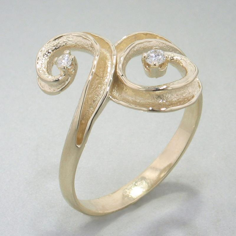 14k Yellow Gold & Diamond Ring - 149D-Y-Leon Israel Designs-Renee Taylor Gallery