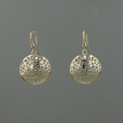 14k Yellow Gold Earrings - 236LE+W-Y-Leon Israel Designs-Renee Taylor Gallery
