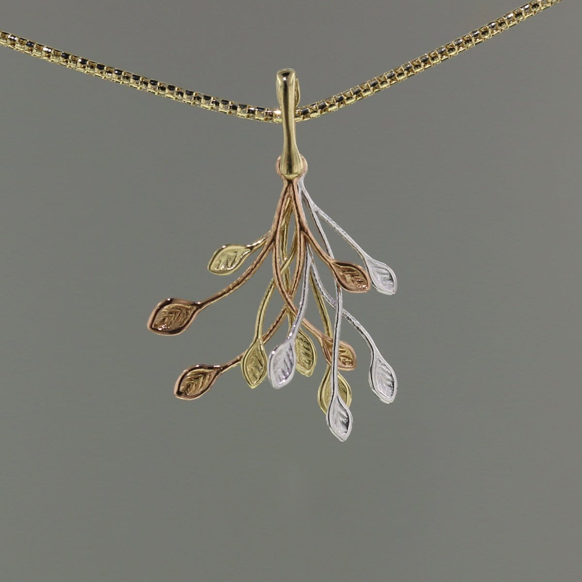 14k Yellow,White & Rose Gold Pendant - 900T-RYW-Leon Israel Designs-Renee Taylor Gallery