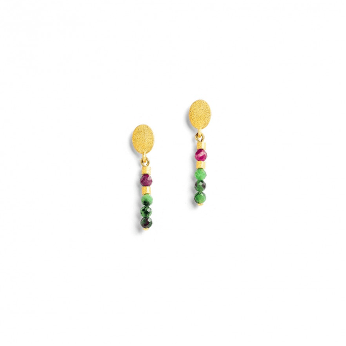 Steira Ruby-Zoisite Earrings - 15509086-Bernd Wolf-Renee Taylor Gallery