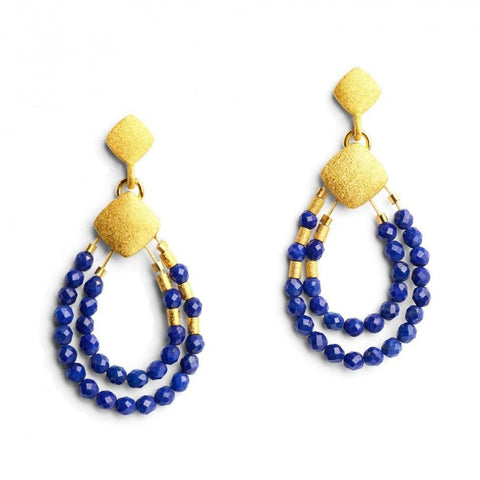 Climini Lapislazuli Earrings - 15574236 - Bernd Wolf