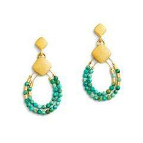 Climini Turquoise Earrings - 15574256-Bernd Wolf-Renee Taylor Gallery