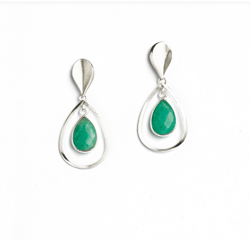 Sequanni Amazonite Earrings - 15703404-Bernd Wolf-Renee Taylor Gallery
