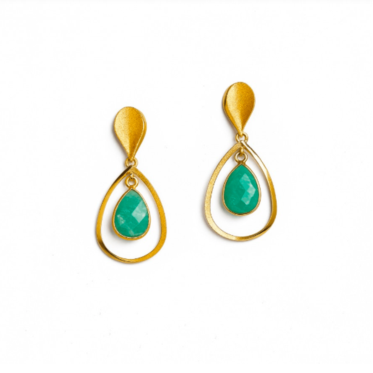 Sequanni Amazonite Earrings - 15703406