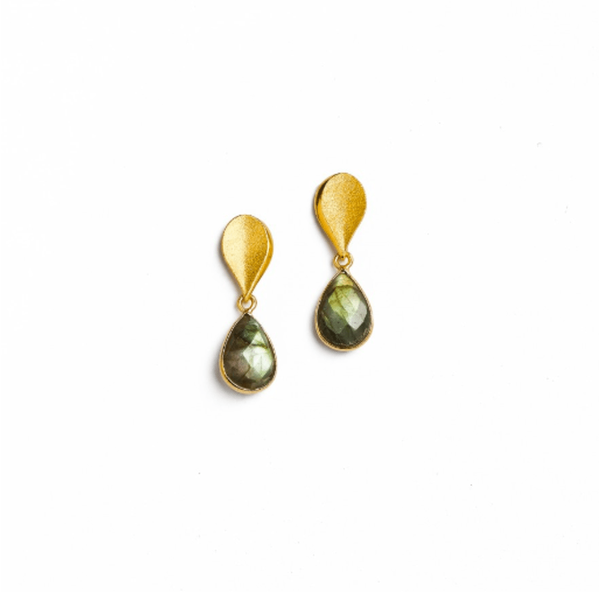 Sequini Labradorite Earrings - 15707616-Bernd Wolf-Renee Taylor Gallery