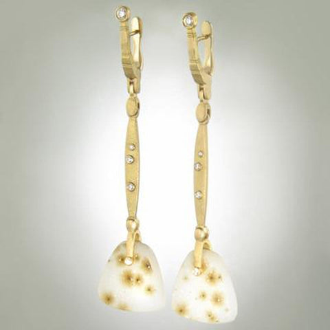 "18K ""Sticks and Stones"" Quartz and Diamond Earrings - E-156D-Alex Sepkus-Renee Taylor Gallery"