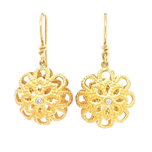 Marika Diamond & 14k Gold Earrings - MA3203-Marika-Renee Taylor Gallery