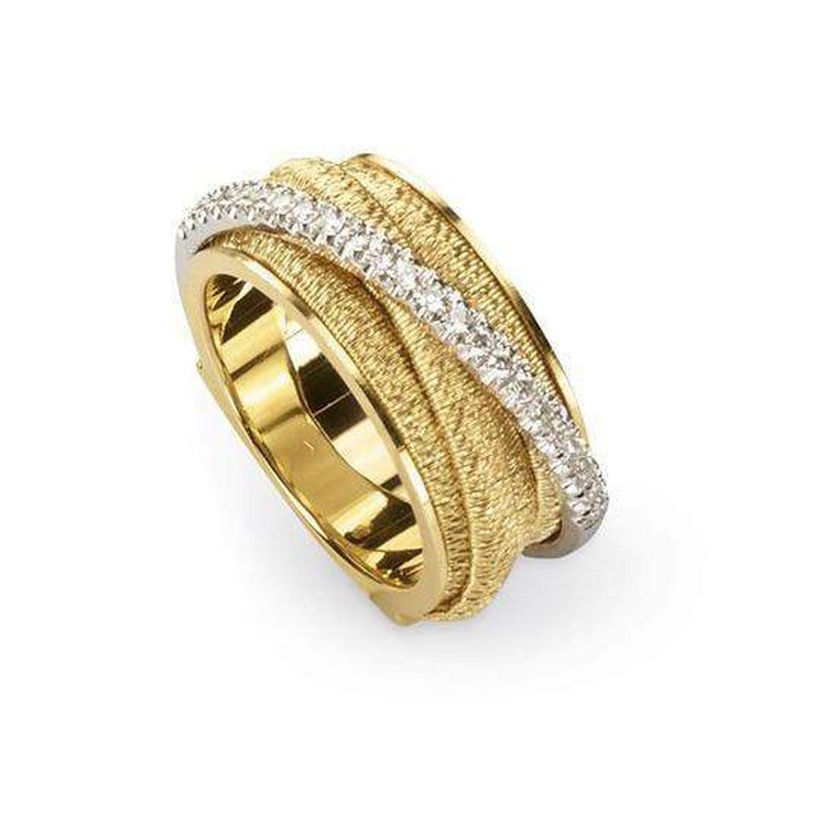 18K Cairo 5 Strand Diamond Ring - AG318 B YW-Marco Bicego-Renee Taylor Gallery