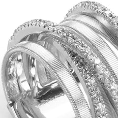 18K Goa 7 Strand Diamond Ring - AG316 B W-Marco Bicego-Renee Taylor Gallery