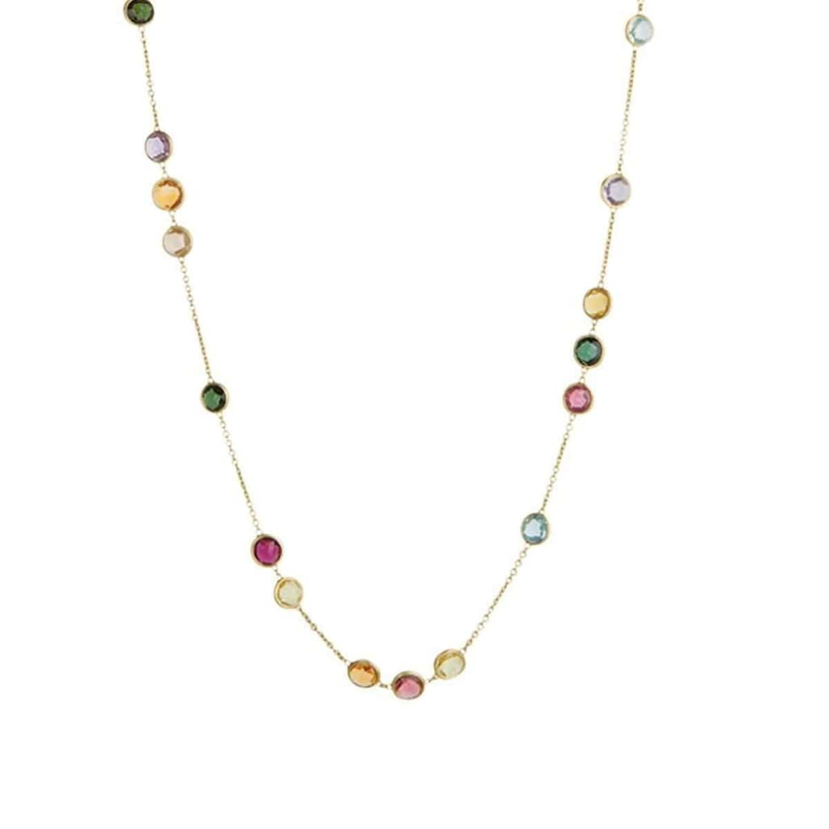 "18K Jaipur Mixed Gemstone Necklace - CB1309 MIX01 Y 36""-Marco Bicego-Renee Taylor Gallery"