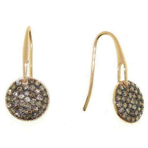 18k Rose Gold & Brown Diamond Earrings - 777481AXERBD-Roberto Coin-Renee Taylor Gallery