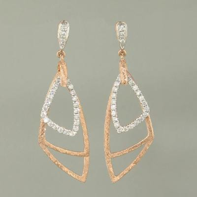 18k Rose Gold & Diamond Earrings - E0557-RG-Jayne New York-Renee Taylor Gallery