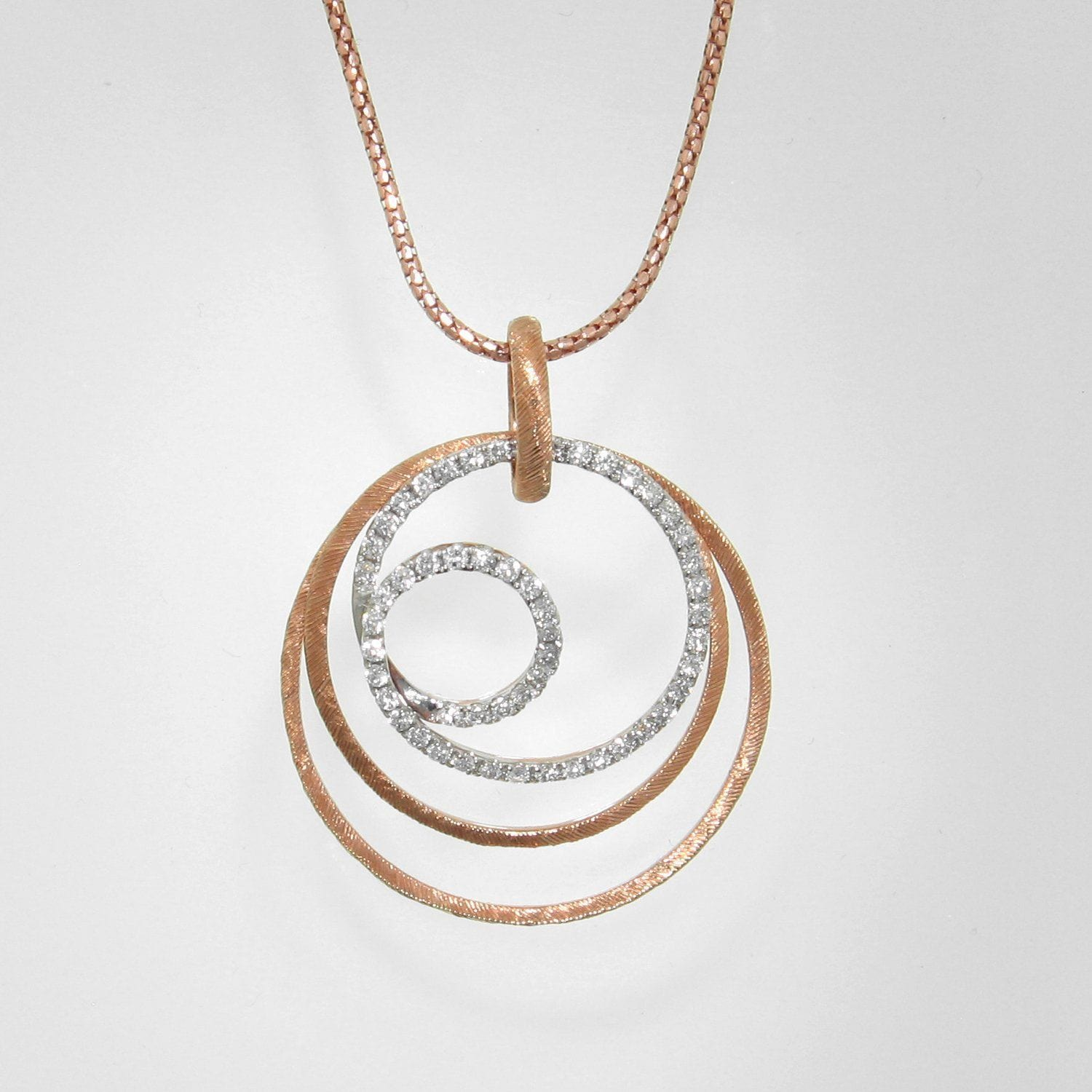 18k Rose Gold & Diamond Pendant - 981PD-RG-Jayne New York-Renee Taylor Gallery