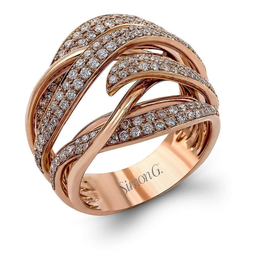 18K Rose Gold Fashion Fable Right Hand Ring - LP2231-R-Simon G.-Renee Taylor Gallery